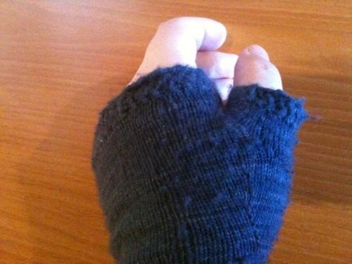 mitt thumb